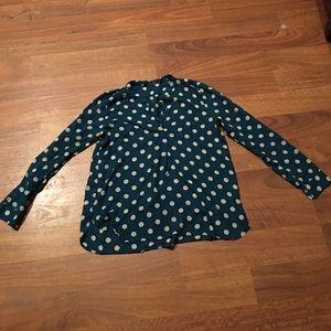 Zara polka dot pullover blouse XS