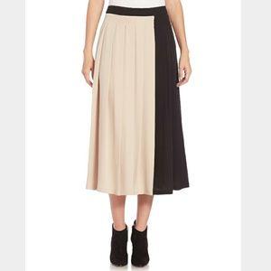 $475 MAXMARA Colorblock Silk Skirt