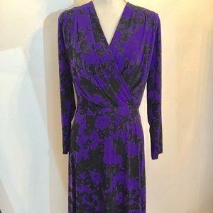 Ellen Tracy Dresses & Skirts - Ellen Tracy Violet / Black print dress