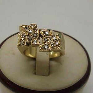 """Other - Antique  14k gold old cut diamonds """"AL"""" Ring"""