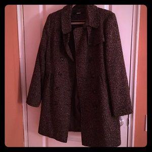 DKNY Jackets & Blazers - DKNY tweed below the knee coat