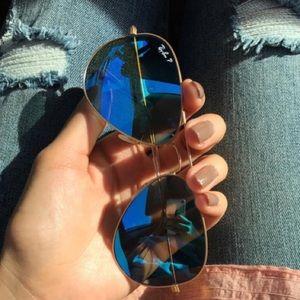 Ray-Ban Accessories - Ray Ban aviator Polarized Mirrored sunglasses