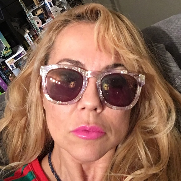 79c94bf9b7 Wildfox Glitter Shimmer Clear Sunglasses