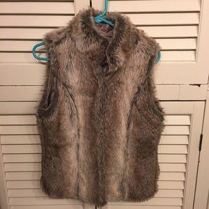 Vintage Havana Jackets & Coats - Vintage Havana Faux Fur Vest