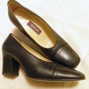 Bally Dark Navy Pumps