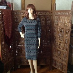 O Suzanne Dresses & Skirts - O Suzanne sparkly chevron patterned dress, size 6