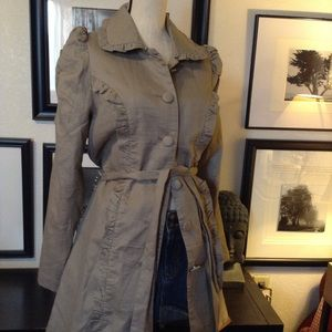 Lapis Jackets & Blazers - Ruching in the sleeves are what make this coat.