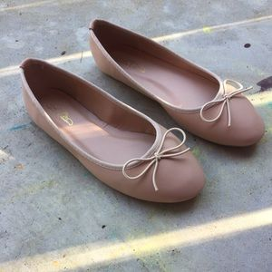 Journee Collection Shoes - Nude Flats- Journee Collection