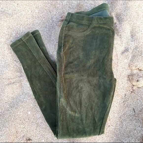 884f41dd58f72 Faded Glory Pants - Faded Glory Corduroy Stretch Leggings Army Green