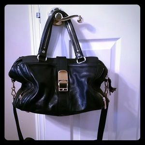 "Rebecca Minkoff Handbags - Rebecca Minkoff ""Jet Setter"" Black Leather Handbag"