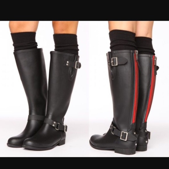 61% off Steve Madden Shoes - Steve Madden tsunami rain boots red ...