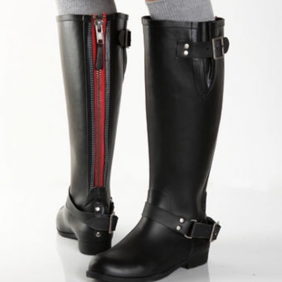 61% off Steve Madden Shoes - Steve Madden tsunami rain boots red ...