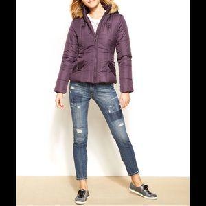 Krush Jackets & Blazers - Hooded Winter Puffer Coat w/ Faux Fur Trim