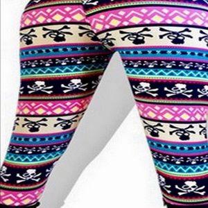 Pants - Cute Skull Leggings