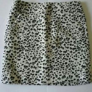 Loft Animal Print Mini Skirt
