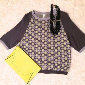 Inspire Sweaters - 🌡SALE🌡Inspire 3/4 geometric sweater