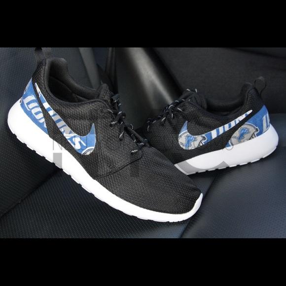 Detroit Lions Nike Roshe One Custom Women