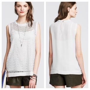 Banana Republic Lace Front Top