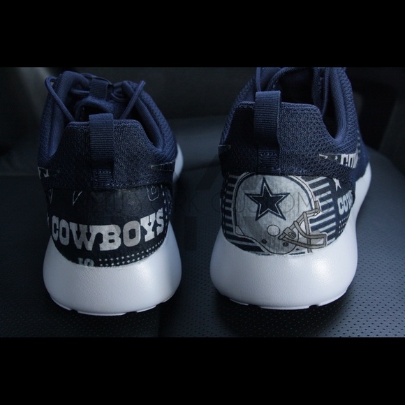 36 Off Nike Other Dallas Cowboys Nike Roshe One Navy Blue Custom Men From Harry S Closet On