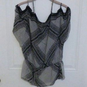 Quintessential  Tops - Sexy Sheer black/grey blouse NWOT