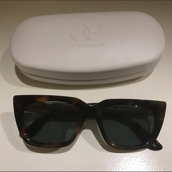 1962 Brand New Authentic Oliver Goldsmith Kolus Sunglasses Dark Tortoise