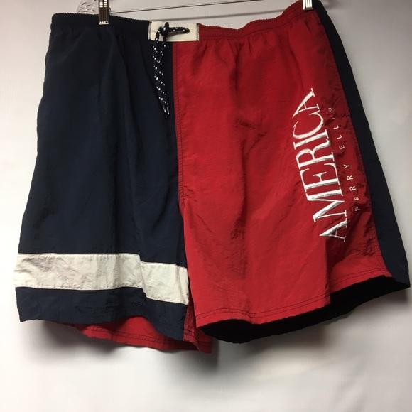 c9c0b31a19 Vintage Perry Ellis America Swim Shorts. M_583ac4a59818299b4b0b8057