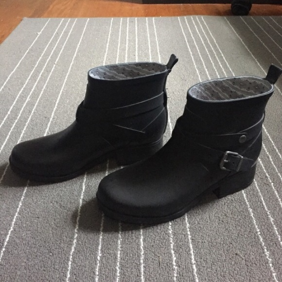64% off Lucky Brand Shoes - Lucky Brand black rubber rain boots ...