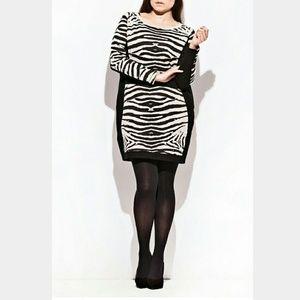 Carmakoma Dresses & Skirts - Zebra Bodycon Dress