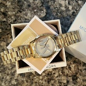 7e4643db9d1a Michael Kors Accessories - Michael Kors Runway MK gold bracelet watch MK3206