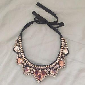 Jewelry - Ribbon tie bib necklace