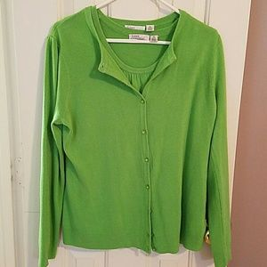 Luxe Essentials Apparel Sweaters - Green Twin-Set Sweater