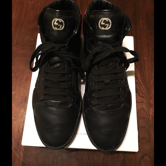 gucci shoes black snake. gucci men\u0027s hi-top sneaker, sz 11 black /red snake shoes e