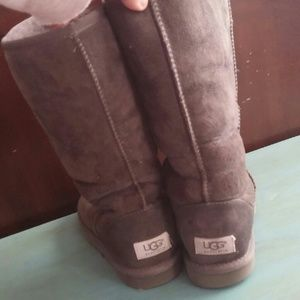 Tall gray classic uggs