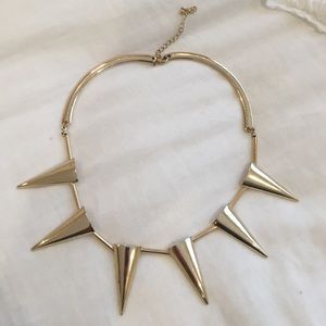 gold spiked necklace
