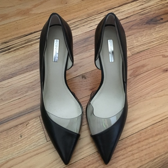 4615100dad7 Bcbg black and clear heels