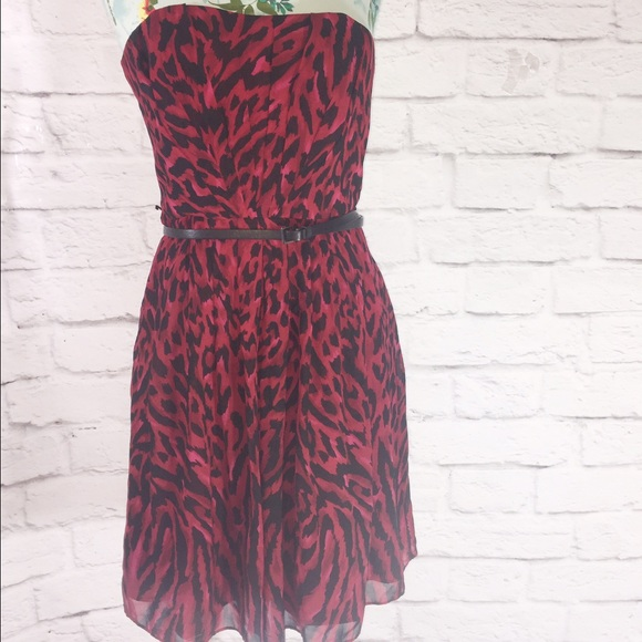 White house black market leopard print dress