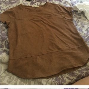 Tops - Brown suede shirt 👚