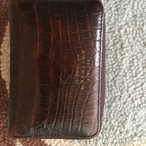 Smythson Handbags - Smythson printed calf brown leather wallet