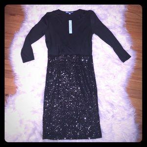 ANTONIO MELANI Dresses & Skirts - NWT Antonio Melani Black Sequin LBD Size XS