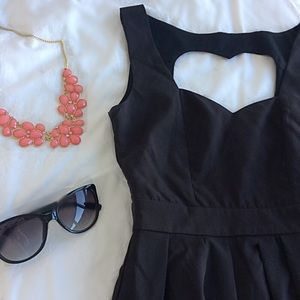 Tea n Cup Dresses & Skirts - Black Classic Heart Dress