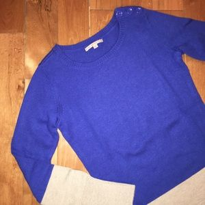 GAP colorblock sweater w/ button detail NWOT