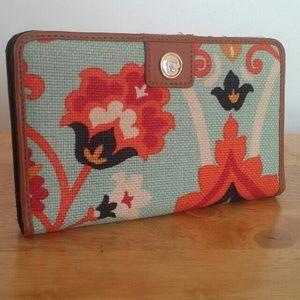 Spartina 449 Handbags - Spartina Daufuskie Island Wallet Linen and Leather