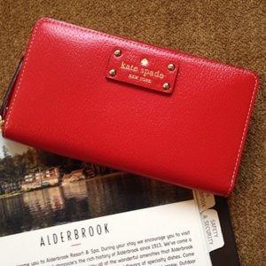 Red Kate spade wallet