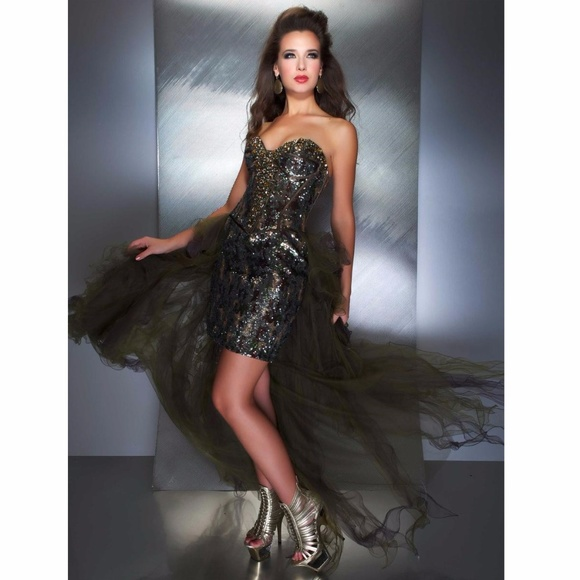 d7eab672c8f Dazzling Camo cocktail dress by Mac Duggal Prom