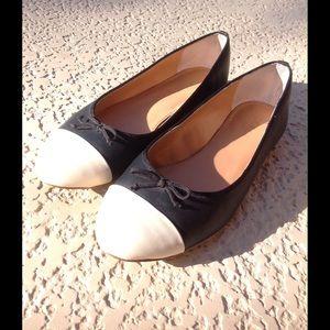J.Crew cap toe ballet flats