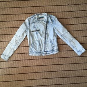 Stylish distressed denim jacket