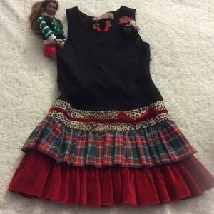 MonnaLisa Other - NWOT MonnaLisa T6 Holiday Dress Altered Corsage