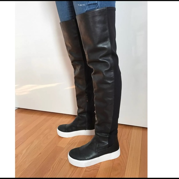 b1d13d2ad11 DKNY Brenda Over the Knee Sneakers Boots