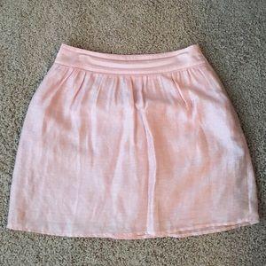 Ballerina pink a-line skirt, Loft size 6