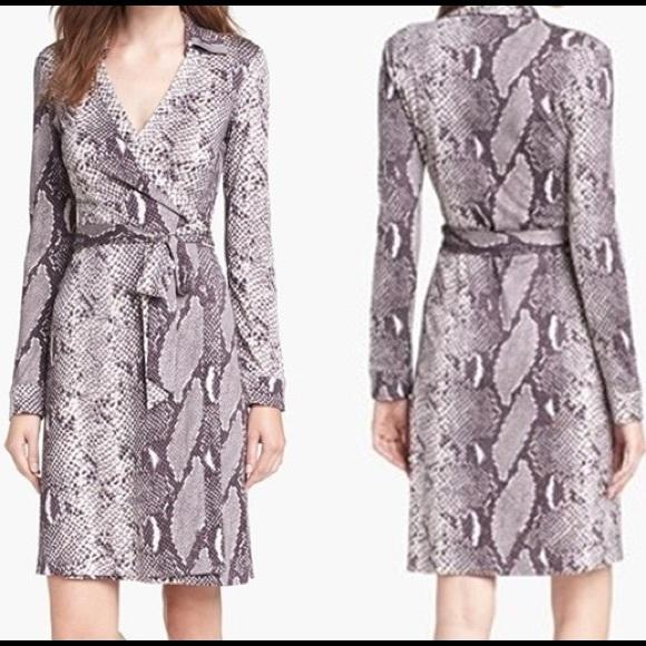 9e1dd0d465a53 Diane von Furstenberg Dresses   Hp Dvf Snakeskin Wrap Dress   Poshmark